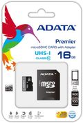 A-DATA 16GB MicroSDHC UHS-I Class10 +SD adapter