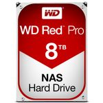 WESTERN DIGITAL Red Pro 8TB SATA 6Gb/s 128MB Cache Internal 3,5Inch 24x7 7200rpm optimized for SOHO NAS systems 8-16 Bay HDD Bulk (WD8001FFWX)
