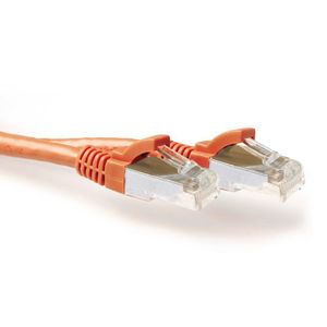 ACT SFTP Patch Cat.6A - 1 m Oransje LSZH 500MHz 27AWG Halogenfri Snagless (FB7101)