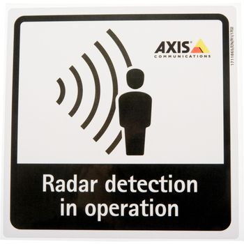 AXIS RADAR DETECTION STICKER (01551-001)