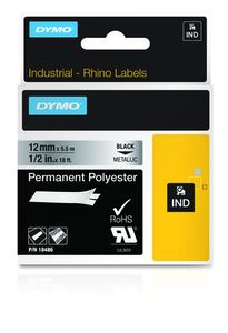 DYMO RHINOPRO 1/2IN METALLIZED PERM TAPE (18486)