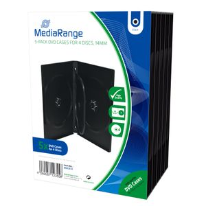 MediaRange DVD Leerbox 4er DVD Box 5 F-FEEDS (BOX35-4)