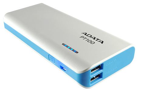 A-DATA ADATA PT100 Power Bank 10000mAh White/ Blue (APT100-10000M-5V-CWHBL)