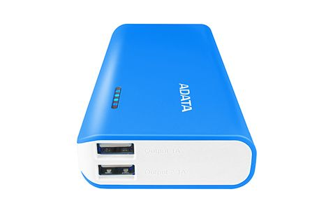 A-DATA ADATA PT100 Power Bank 10000mAh Blue/ White (APT100-10000M-5V-CBLWH)