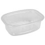 Plastbakke, 10x13,5x4,3cm, 350 ml, transparent, PP, 1-rums