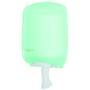 Abena Dispenser, Eco Line, midi, 24,5x37cm, grøn, plast, til håndklæderuller med centertræk