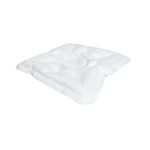 Trykaflastende pude, Levabo  All Up Donut, 45x45x8cm,  hvid