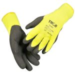 Halvdyppet latexhandske,  THOR Thermo, 9, polyester/ latex,  ribkant