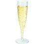 Champagneglas, Duni, 13,5 cl, klar, PS, på fod *Denne vare tages ikke retur*