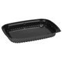 KD Sushi bakke, Abena, 26x19x2,5cm, 550 ml, sort, PS, stor