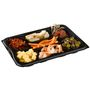Abena Gourmet bakke, 24,5x35x4cm, sort, PET, 7-rums, take away