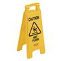 "KD Advarselsskilt, Rubbermaid, gul, PP, 2-sidet, med tekst ""Caution - Wet floor"""