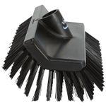 Hi-low børste, Vikan, 26, 5x15x10cm,  sort, PP/ polyester/ rustfrit stål, medium børstehår *Denne vare tages ikke retur*