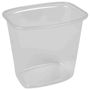 Plastbakke, 10x13,5x13,5cm, 1000 ml, transparent, PP, 1-rums
