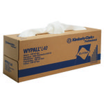 Industriaftørring,  Kimberly-Clark Wypall L40, 1-lags, 25x42cm, hvid, nonwoven