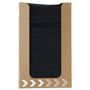 KD Servietdispenser, Dunisoft, 20x20cm, sort, papir, stor, med servietter *Denne vare tages ikke retur*