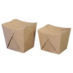 Take away boks, 10, 8x10, 6x10, 5cm,  700 ml, 250 g/m2, brun, kraft/OPP