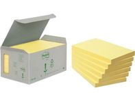 Note POST-IT Recycled 127x76mm gul 6/pk.