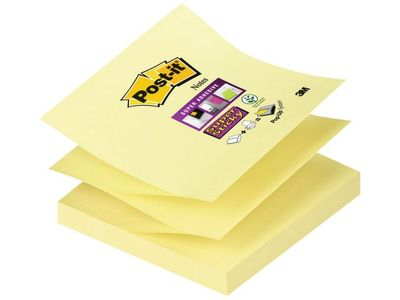 POST-IT Z-Notes R330 Gul Super Sticky 76x76mm (R33012SS*12)
