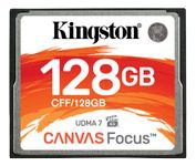 KINGSTON CF Card 128GB CompactFlash Canvas Focus up to 150R/130W UDMA7 VPG-65