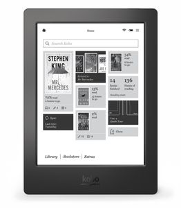 KOBO AURA H2O - BLACK 6.8IN 1440X1080 COMFORTLIGHT PRO IN (N867-KU-BK-K-EP)