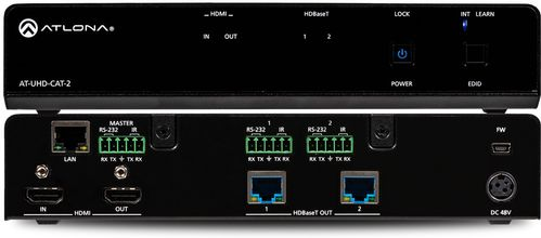 Atlona 4K/UHD 2-Output HDMI to HDBaseT Distribution Amplifier. 70 meter. Leveres uden modtagere. (AT-UHD-CAT-2)