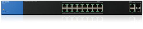 LINKSYS BY CISCO LGS318P 18 port Gig PoE Smartswi Rackmount Metal 10/ 100/ 1000Mbps (LGS318P-EU)
