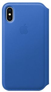 APPLE iPhone X Leather Folio - Electric Blue (MRGE2ZM/A)