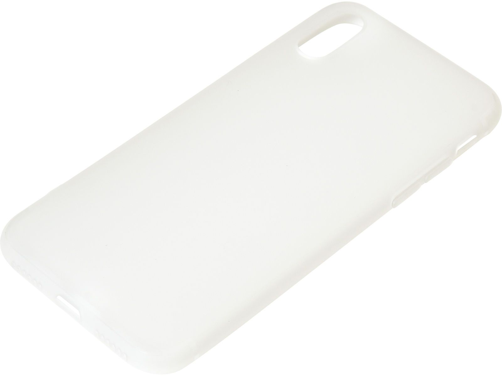 Sandberg Soft - Baksidedeksel for mobiltelefon - hvit - for Apple iPhone X (406-30)