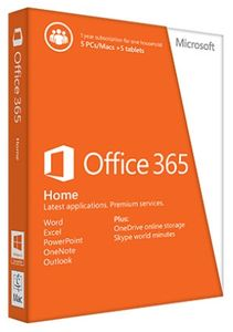 MICROSOFT Office 365 Home Premium 32-bit/ x64 English Subscription 1 LIC Eurozone Medialess 1 Year (6GQ-00020)