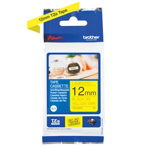 BROTHER P-Touch Tape Black on Yellow 12mm 4m (TZE631S)