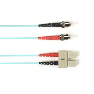BLACK BOX OM3 PATCH CABLE 50µM (LZ0H) - AQUA, ST-SC DUPLEX, 1M (EFE354-001M-AQ)