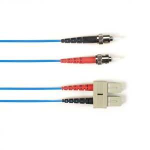BLACK BOX FO Patch Cable Color Multi-m OM3 - Blue ST-SC 20m Factory Sealed (FOLZH10-020M-STSC-BL)