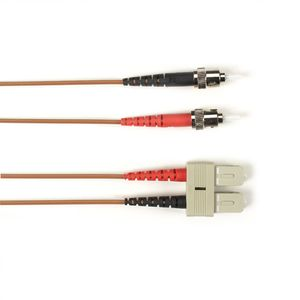 BLACK BOX COLOURED SINGLEMODE PATCH CABLE - LSZH DUPLEX - BROWN, ST-SC, 1M (FOLZHSM-001M-STSC-BR)