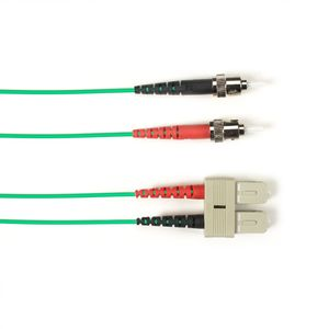 BLACK BOX FO Patch Cable Color Multi-m OM1 - Green ST-SC 1m Factory Sealed (FOLZH62-001M-STSC-GN)