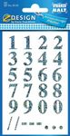 AVERY Numbers, Silver Holografic 16mm/ 65pt,  2 sheets/ pack (59159)