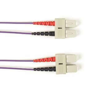 BLACK BOX FO Patch Cable Col Multi-m OM1 - Violet SC-SC 10m Factory Sealed (FOLZH62-010M-SCSC-VT)