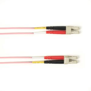 BLACK BOX COLOURED MULTIMODE OM4 PATCH CABLE - LSZH DUPLEX - PINK, LC-LC, 10M (FOLZHM4-010M-LCLC-PK)