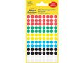 AVERY Colour Coding Dots, Ass. Assorted colours, ? 8 mm 416 labels/pack