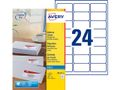 AVERY White Adressing Labels For Inkjet 63,5x33,9 mm 24 Labels/Sheets ** 25-pack**
