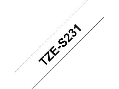 BROTHER TZS231 special tape 12mm 8m (TZES231)