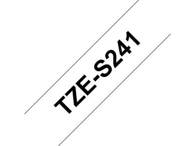 BROTHER 18MM Black On White Strong Adhes (TZES241)
