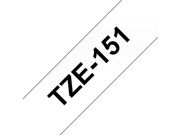Brother 24MM Black On Clear Tape (TZE-151)