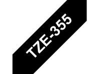 TZ-tape / 24mm / White Text / Black Tape
