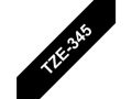 BROTHER TZ-tape / 18mm / White Text / Black Tape