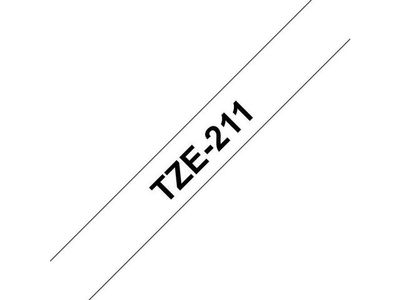 BROTHER 6MM Black On White Tape (TZE211)