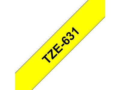 BROTHER TZe tape 12mmx8m black/ yellow (TZE-631)