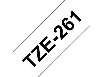 BROTHER 36MM Black On White Tape (TZE261)