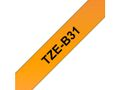 BROTHER TZe tape 12mmx8m black/ neon orange