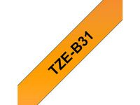BROTHER Tape/12mm black on neon orange f P-Touch (TZEB31)